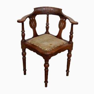 Armlehnstuhl aus Eiche, 1890er
