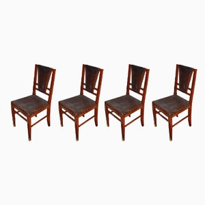 Art Deco Dining Chairs, 1910s, Set of 4