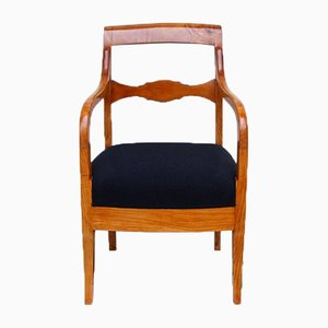 Biedermeier Ash Wood Armchair, 1830s