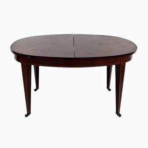 Biedermeier Walnut Oval Extendable Table, 1830s
