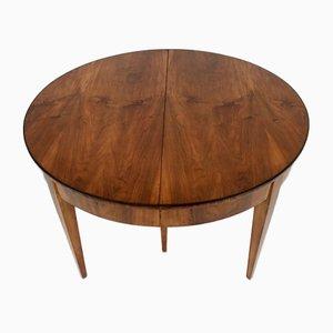 Round Biedermeier Extendable Table, 1880s