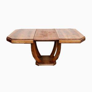 Art Deco Walnut Extendable Table, 1920s