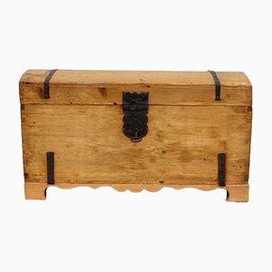 Cassettiera antica in legno, metà XIX secolo