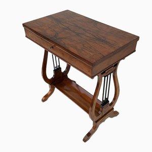 Empire Austrian Walnut Sewing Table, 1810s