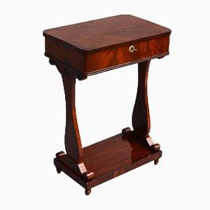 Biedermeier German Mahogany Sewing Table, 1840s