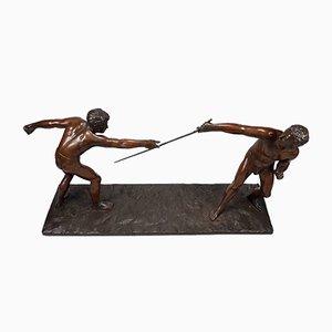 Sculpture Les Escrimeurs par Hans FC Rieder, 1930s