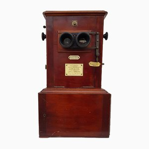 Le Taxiphote Mahogany Stereo by Jules Richard, 1900s