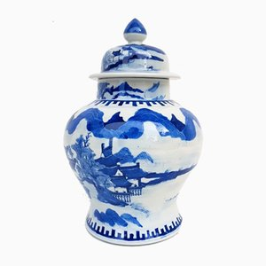 Vase Peint avec Couvercle, Chine, 1900s