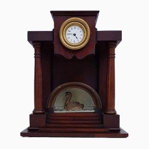 Biedermeier Clock with Swan Motif, 1830s