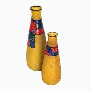 Französische Vasen im Jugendstil von Leune, 1915, 2er Set