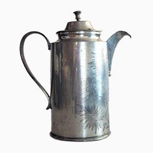 Biedermeier Kaffee- oder Teekanne aus Zinn, 1837