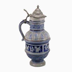 Stoneware Beer Mug from Gerz Steingut, 1880s