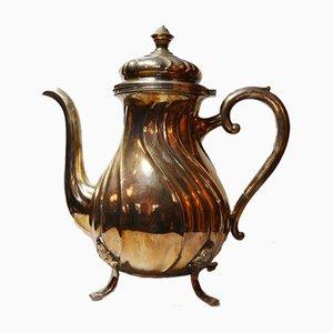 Kaffeekanne aus massivem 800er Silber, 1880er