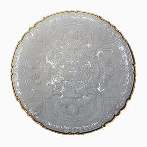 Vintage Decorative Porcelain Plate from Meissen