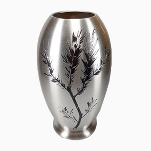 Silver-Pated Ikora Vase from WMF, 1930s