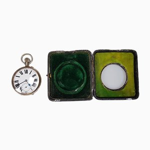 Railwayman's Watch with Silver Box, 1850s
