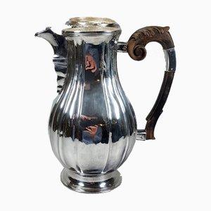 Späte Biedermeier Kaffeekanne aus Silber, 1850er