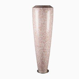 Vase Obice Rose en Polyéthylène à Basse Densité avec Mosaïque Bisazza de VGnewtrend