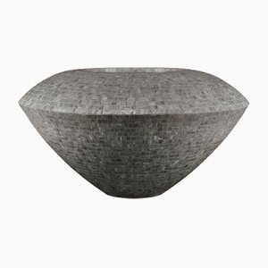 Grey Low-Density Polyethylene Trotty Vase with Bisazza Mosaic from VGnewtrend