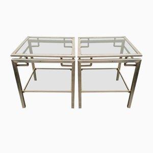 Tables d'Appoint Vintage par Guy Lefevre pour Maison Jansen, Set de 2