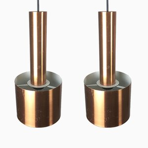 Danish Club Copper Pendants by Jo Hammerborg for Fog & Mørup, 1963, Set of 2