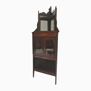 Victorian Inlaid Corner Display Cabinet