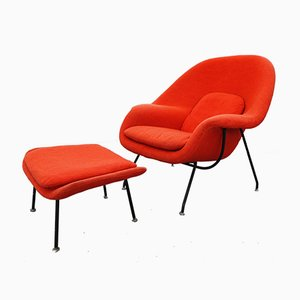 Womb Chair & Fußhocker von Eero Saarinen für Knoll Inc., 1956