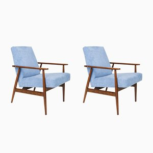 Baby Blue Dante Armchairs by H. Lis, 1962, Set of 2