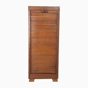Vintage Tambour Filing Cabinet