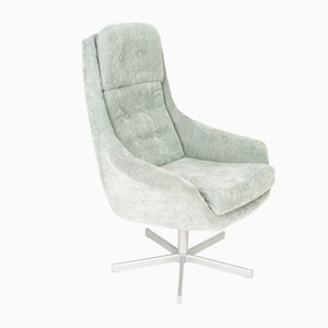 Vintage Light Green Swivel Armchair, 1960s