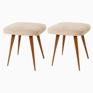 Beige Stools, 1960s, Set of 2