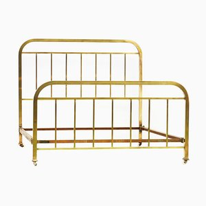Art Deco Brass Bed from Pardon, 1930s