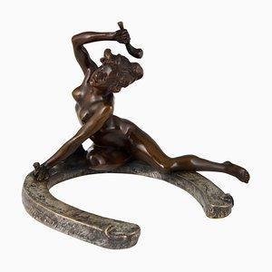 Bronzeskulptur im Jugendstil von Georges Récipon, 1896