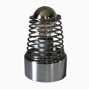 Vintage Spring Lampe aus Chrom, 1970er