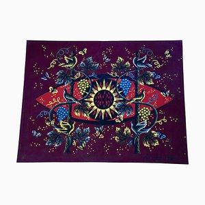 Mid-Century Sun & Vine Tapestry by Jean Picart Le Doux for Henri Duprez et Cie