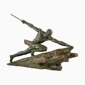 Escultura Art Déco de bronce de Pierre Le Faguays, 1927