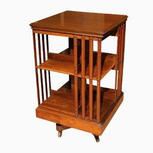 Drehbarer antiker Bücherschrank aus Nussholz von Maple & Co