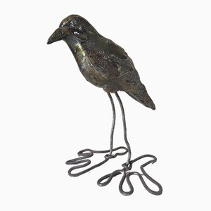 Ceramic & Wire Bird, 1970s