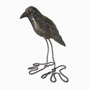 Pájaro de cerámica y alambre, años 70