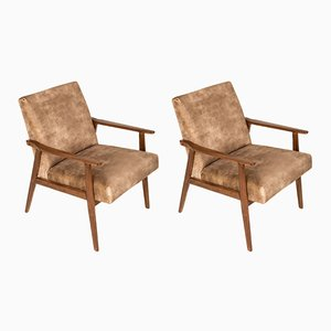 Lion Beige Dante Armchairs by Henryk Lis, 1960s, Set of 2