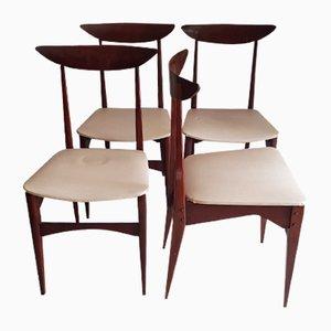 Italienische Esszimmerstühle, 1960er, 4er Set