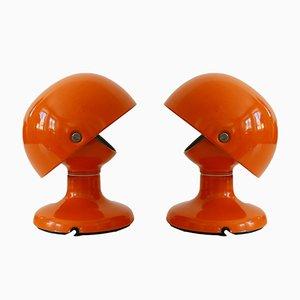 Moderne Mid-Century Jucker Tischlampen von Afra & Tobia Scarpa für Flos, 2er Set