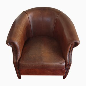 English Leather Armchair, 1900s