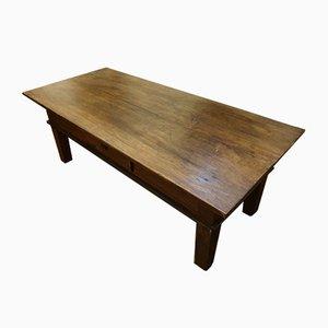 Tavolino da caffè antico in noce
