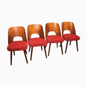Sedie da pranzo vintage di Oswald Haerdtl per TON, anni '50, set di 4