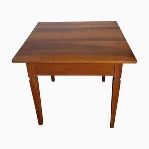 Antique German Walnut Side Table, 1820s