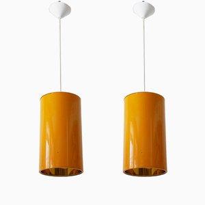 Lampes à Suspension Mid-Century de Erco, 1970s, Set de 2