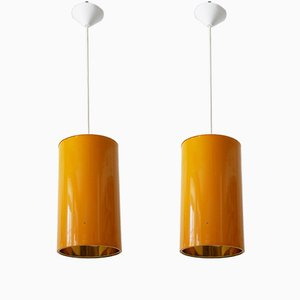 Mid-Century Modern Pendant Lamps from Erco, 1970s, Set of 2