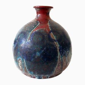 Große glasierte Mid-Century Keramikvase, 1960er