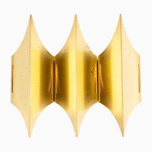 Mid-Century Gothic III Wandlampe aus Messing von Bent Karlby für Lyfa, 1960er